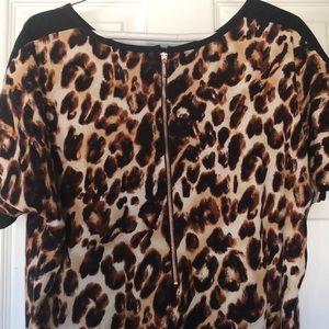 Gibson Latimer Dresses - Cheetah Print Gibson Latimer Dress. Size Medium